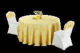七星岛黄色卡通人物小黄鸭儿童主题桌布椅套
