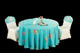 七星岛绿色卡通人物美人鱼儿童主题桌布椅套