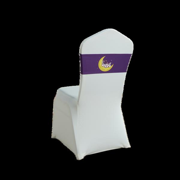 七星岛紫色卡通人物月亮一字椅弹力子装饰带-TT