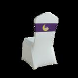 七星岛紫色卡通人物月亮一字椅弹力子装饰带 -TT