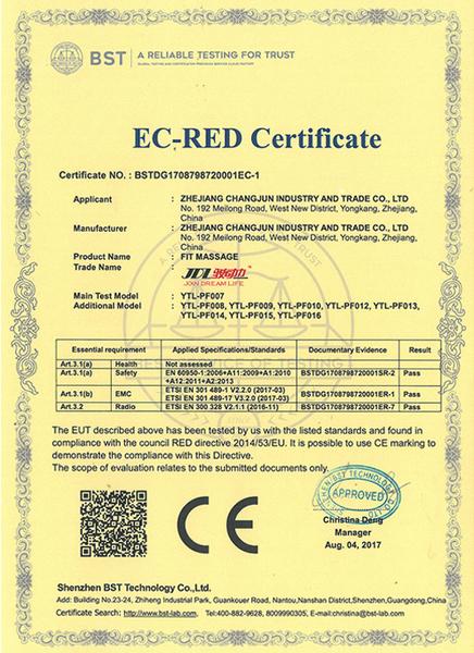 EC-RED Certificate
