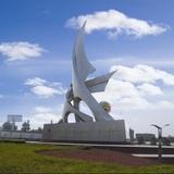 江西东乡大富工业区广场雕塑《扬帆》