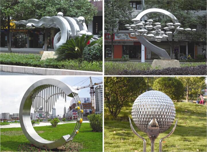 不锈钢雕塑: 1,本产品适于广场,公园,植物园,花园,学校