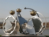 不銹鋼雕塑塑材有哪些種類,焊接要注意什么?