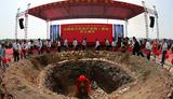 中国南方农机产业园开工,林广平作为入园企业代表在会上作表态发言