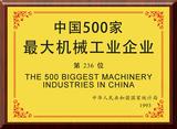 1993年中国500?#26131;?#22823;机械工业企业第236位