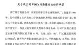 關于我公司VOCs污染整治達標的承諾