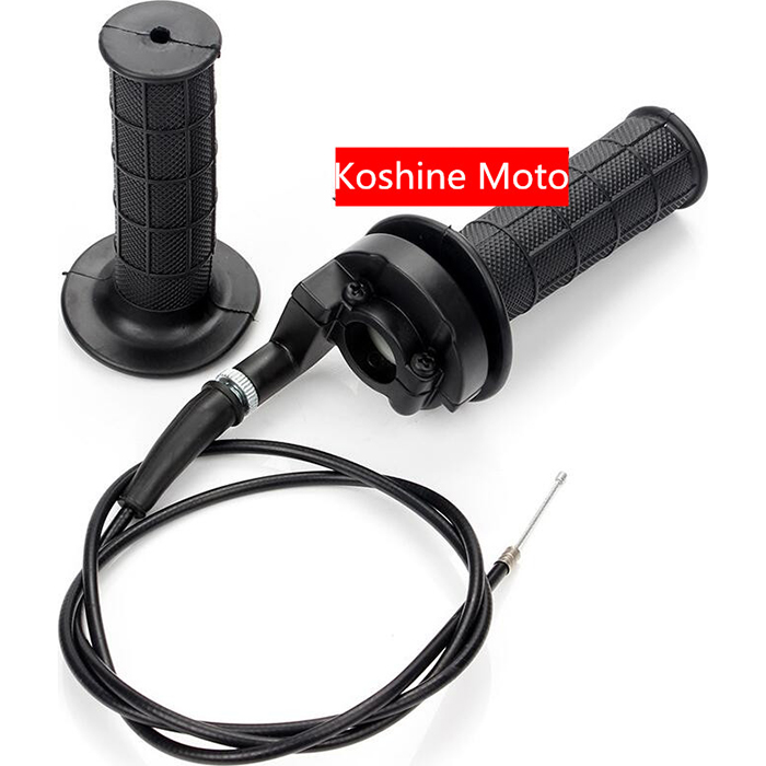 rubber grips with throttle cable 50cc Throttle knob