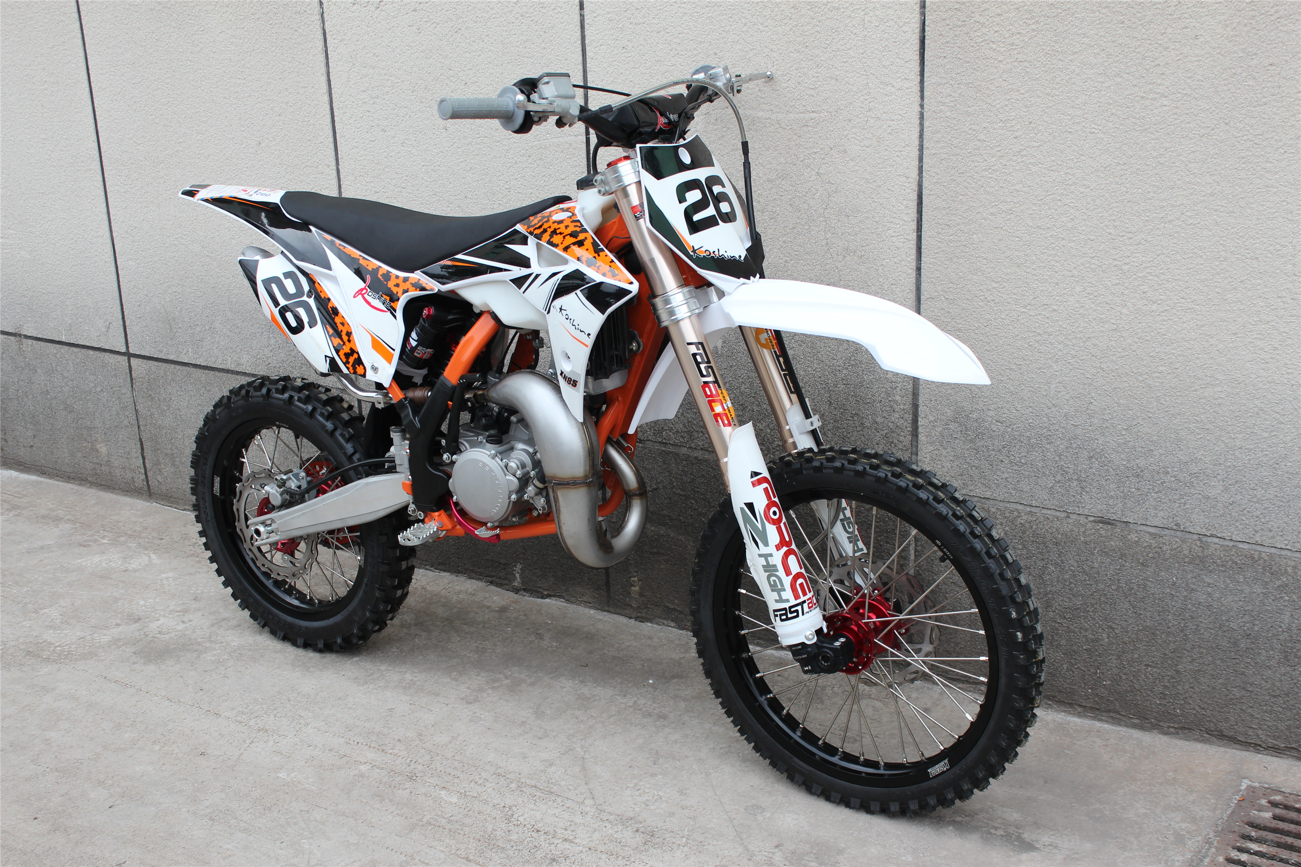 85CC dirt bike with Fastace forks XN85