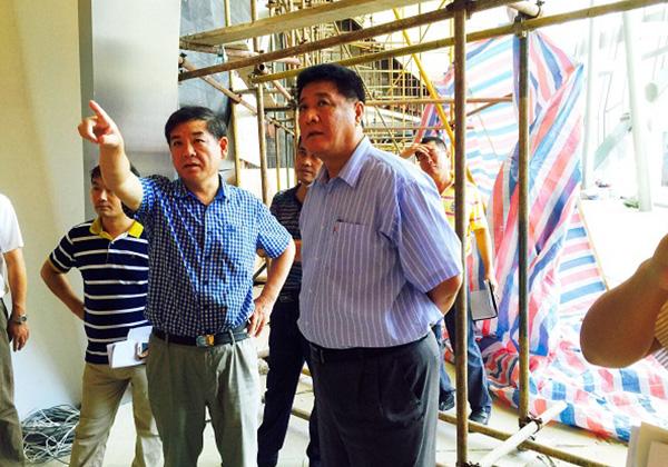市委常委、常務副市長岳進視察三亞市游客中心項目進展