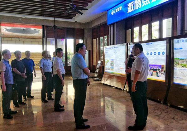三門峽市政府考察團赴三亞信投云港數據中心考察調研