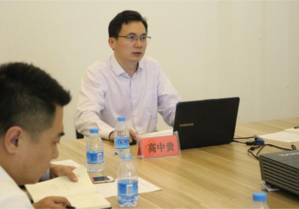 三亞市規劃局副局長高中貴蒞臨三亞信投黨支部 宣講十九大報告精神