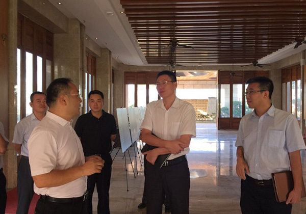 市科工信局局長周俊帶隊考察云港園區和信投公司