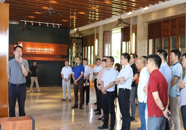 國內知名互聯網企業家代表團考察云港互聯網創業基地