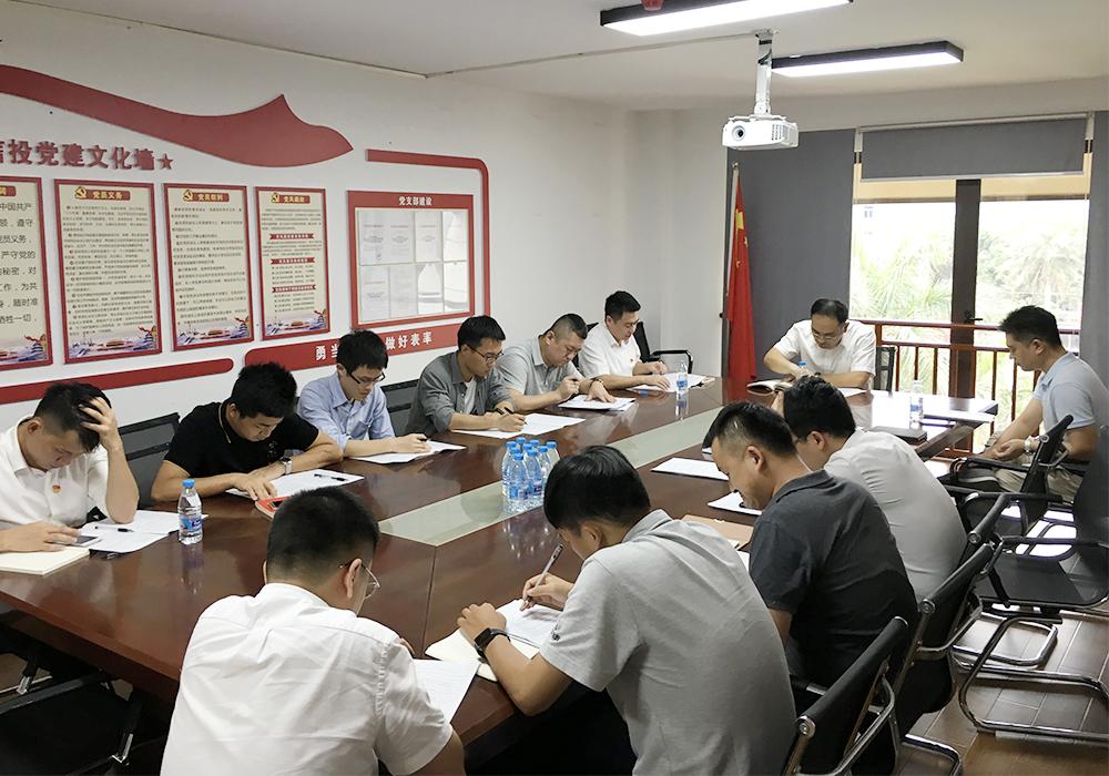 """三亚信投党支部召开""""五法+""""专题学习会"""