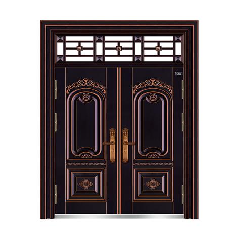 黑金黄铜-THF-8005繁荣昌盛双开门