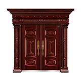 红叶紫檀(手工拉木纹) -THF-8015心心相印双开门