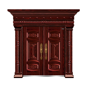 红叶紫檀(手工拉木纹)-THF-8015心心相印双开门