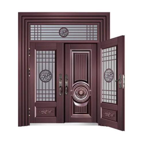 汉唐风情-玻璃拼接复合门