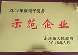 2015年度电子商务 示范企业