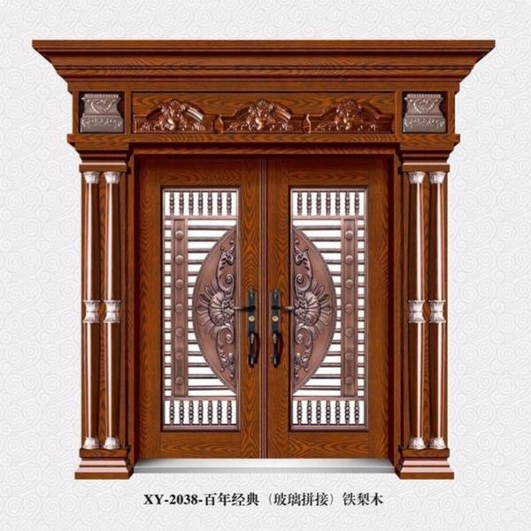 百年经典(玻璃拼接)铁梨木  XY-2038