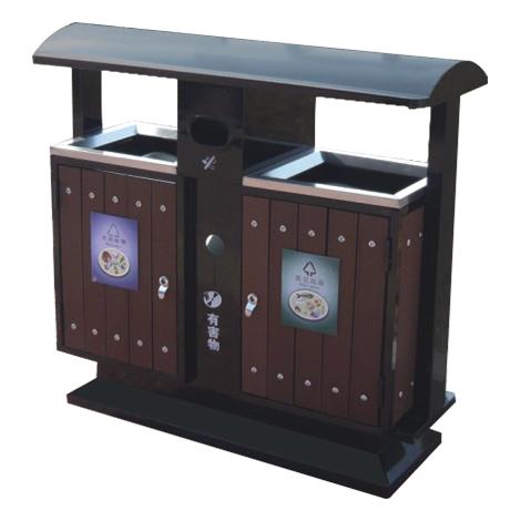 分类式垃圾桶(钢木型)-14-8856