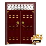 非标门-186-高仿纯铜拼接对开门