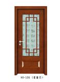 实木玻璃花窗门-HX-106