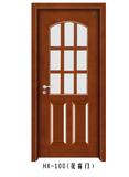 实木玻璃花窗门-HX-100