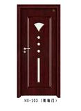 实木玻璃花窗门-HX-103