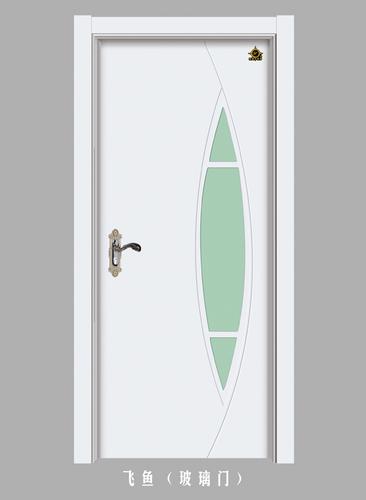 实木玻璃花窗门-飞鱼