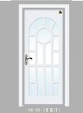 实木玻璃花窗门-HX-96