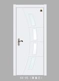 实木玻璃花窗门-HX-95