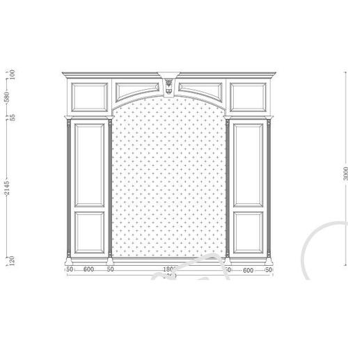 背景护墙-标准背景护墙13号