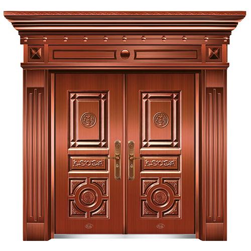 精品准铜门系列-XD-8088准红铜