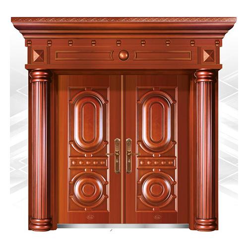 精品准铜门系列-XD-8058准红铜