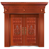 精品准铜门系列 -XD-8062准红铜