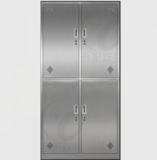 不锈钢更衣柜 -不锈钢四门更衣柜XFY