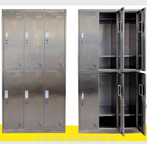 不锈钢更衣柜-不锈钢六门更衣柜XFY