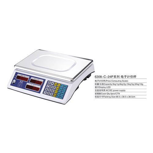 电子计价秤-6308-C-24P系列-电子计价秤