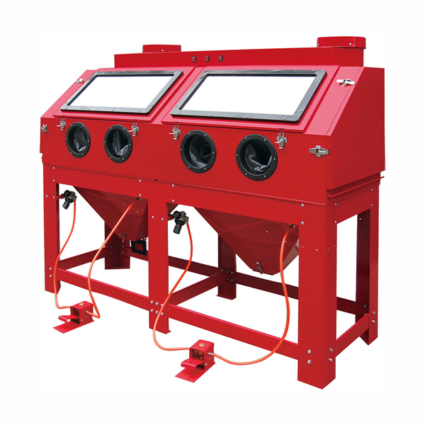 880L CABINET SANDBLASTER WITH PARALLELED WORKING POSITION XH-DSBC880