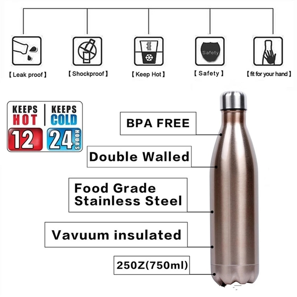 Insulated stainless steel cola bottle WJ-500S-CA
