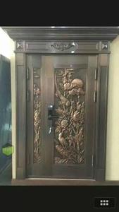 新款铸铜板手工敲花铜门