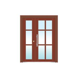 氟碳漆玻璃拼接楼寓门系列