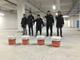 金石特接到浙江常山信用联社地下车库做本色钢化地坪