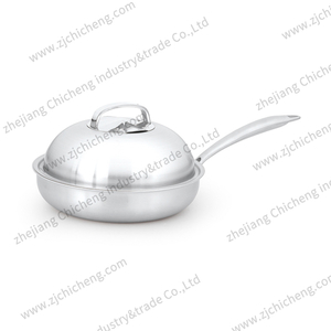 Belly shape fry pan