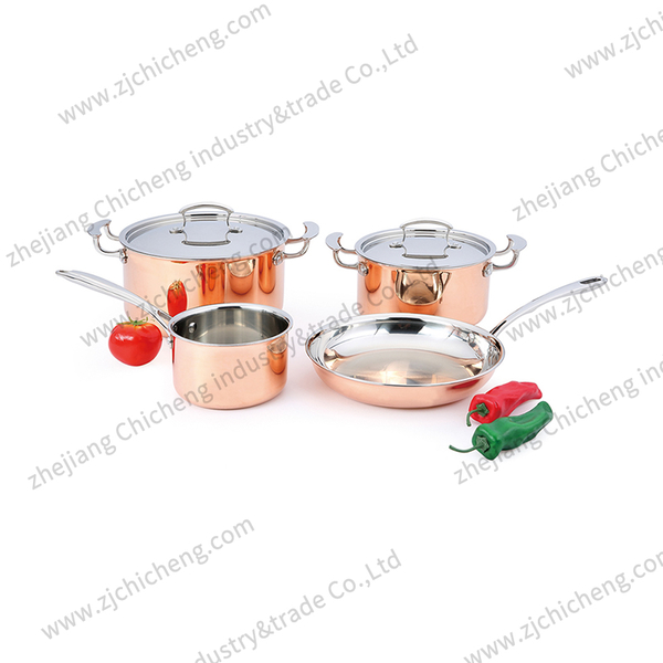 4PCS copper cookware