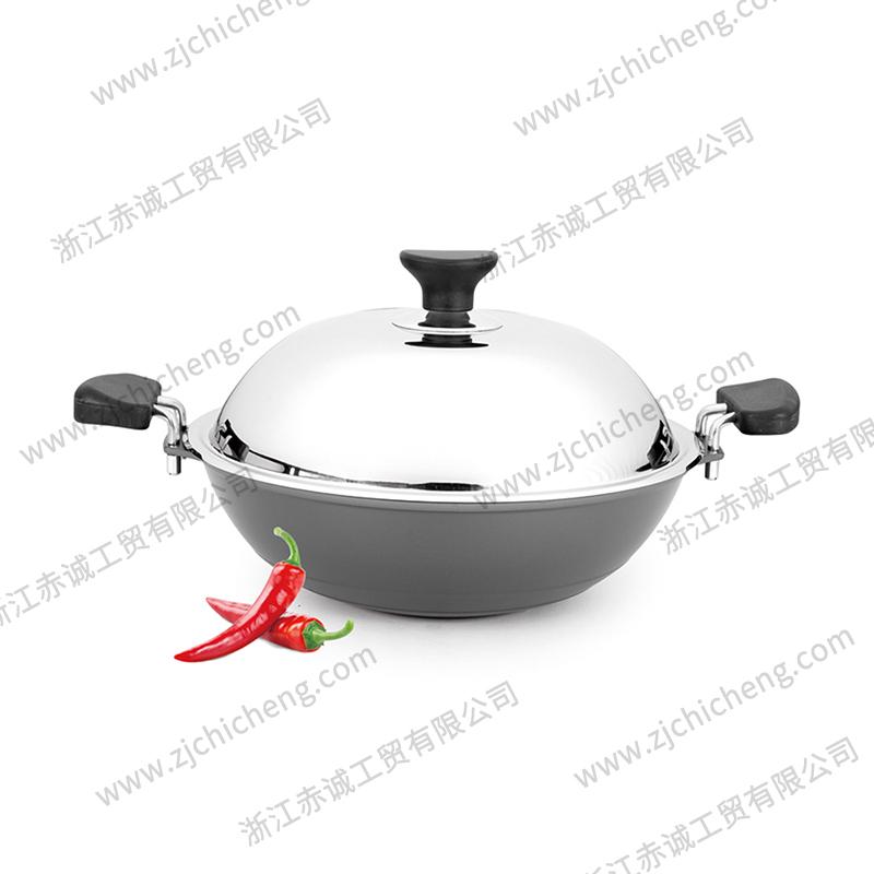 硬质氧化铝锅炒锅 XB-2171