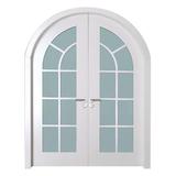 HX-B201-纯白-弧形对开门