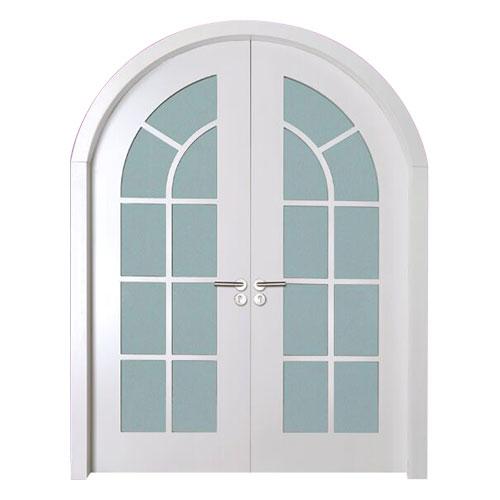 HX-B201-纯白-弧形对开门-
